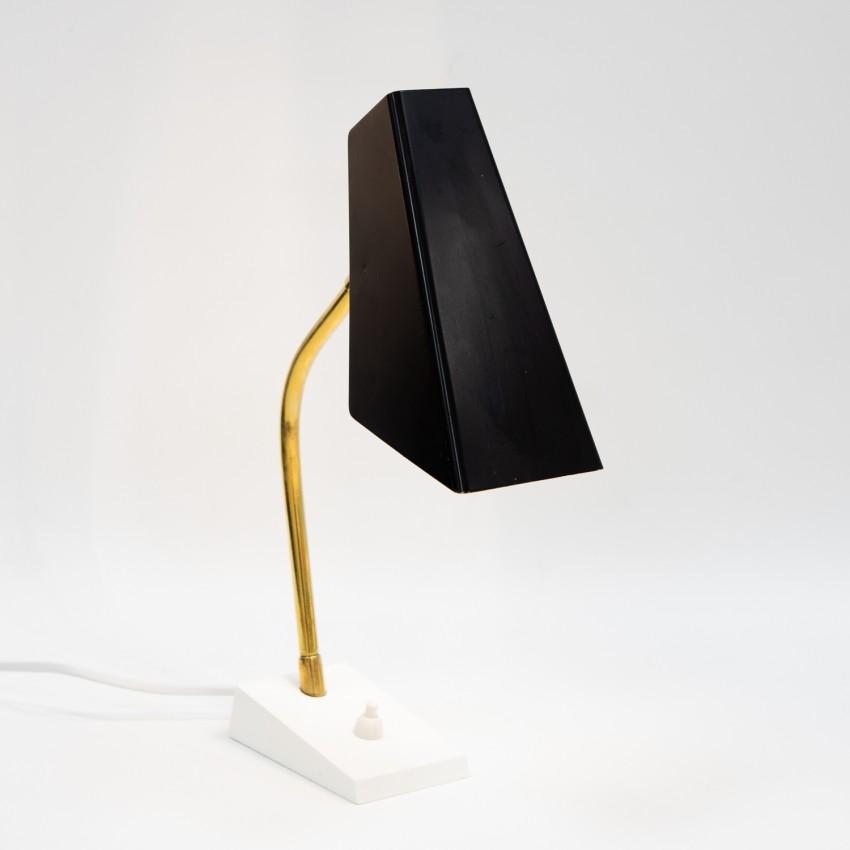Lampe en tôle pliée des années 1950
