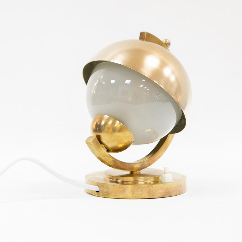 Lampe globe Art déco en laiton