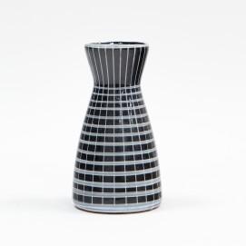 Petit vase diabolo bleu des années 1960