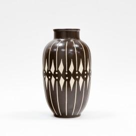Vase noir et blanc Piesche & Reif