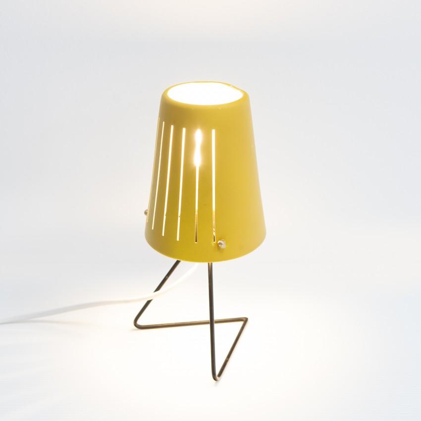 Lampe mobile en tôle ajourée des années 1950
