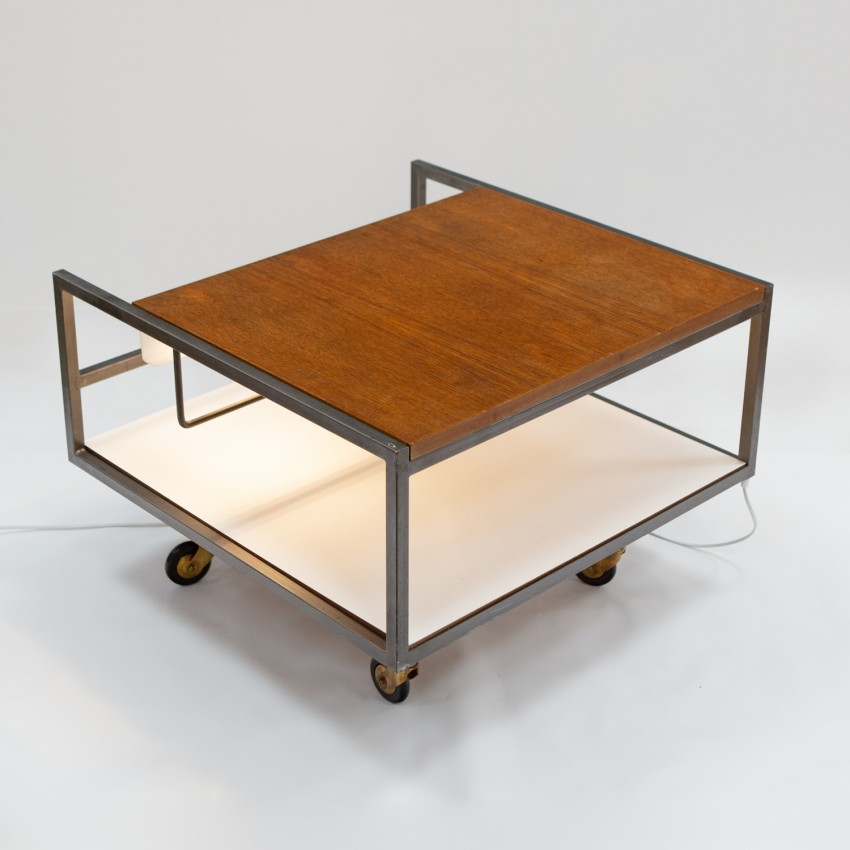 Table basse lumineuse de Georges Frydman