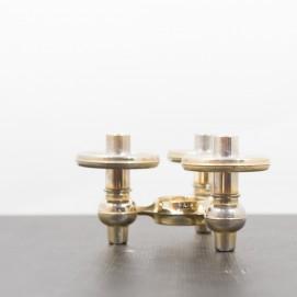 Chandelier en métal doré - Vintage - Brocante en ligne