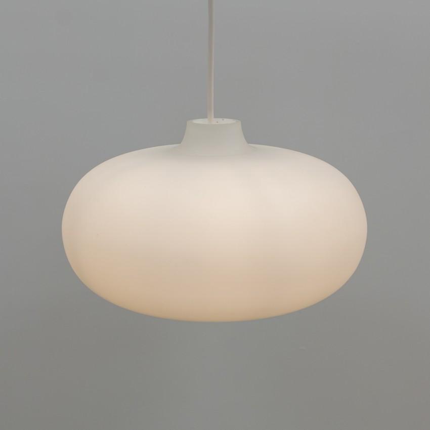 Suspension elliptique en opale satiné