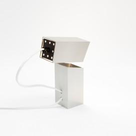 Lampe articulée parallélépipédique en inox