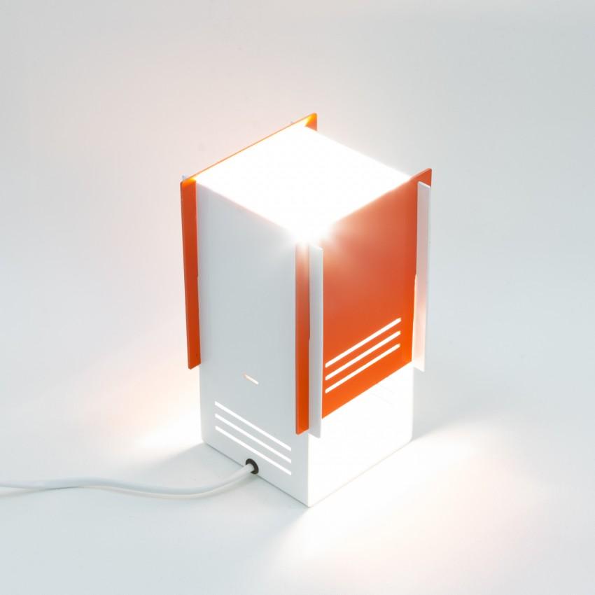 Lampe cubique en tôle ajourée - Fratelli  Martini Concordia Italia