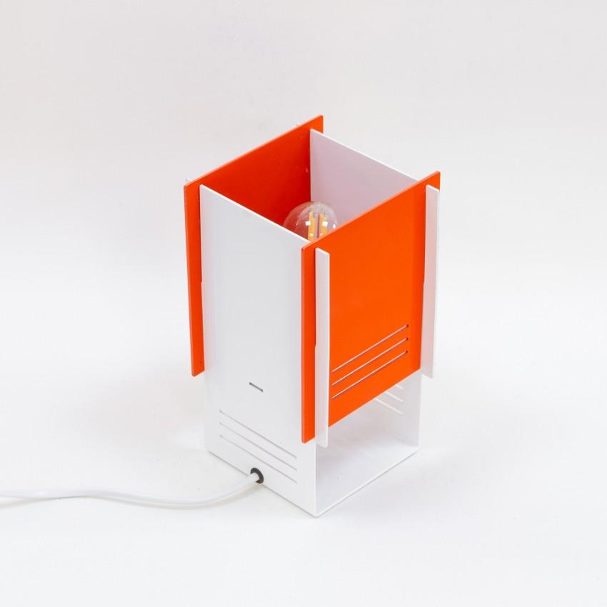 Lampe cubique en tôle ajourée - F.Lli Martini