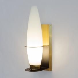 Lanterne verre et laiton des années 1960