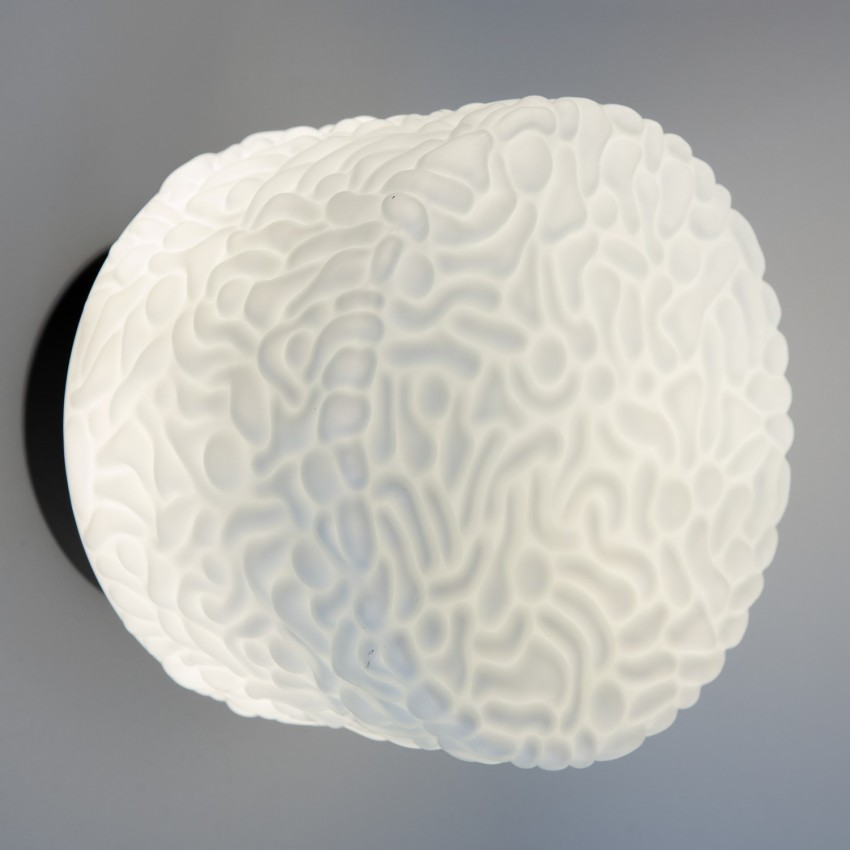 Grande applique cylindrique en verre d'Osvětlovací sklo