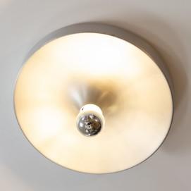 Applique ronde en aluminium pour ampoule à calotte argentée Kontakt-Werkstätten