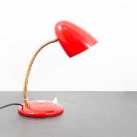 Lampe de chevet/applique vintage rouge et laiton