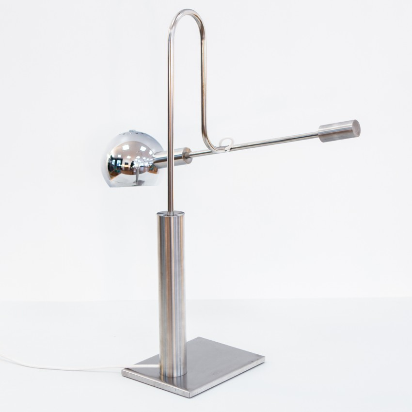 Lampe de bureau à balancier de J.P. Bouvier