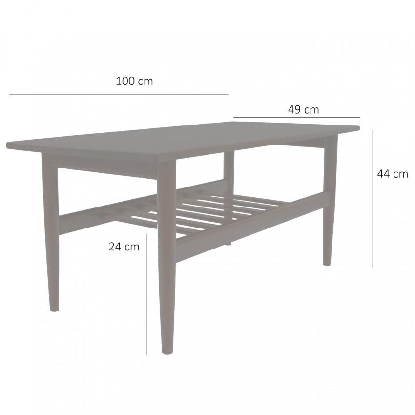 Table basse et porte-revues Samcom