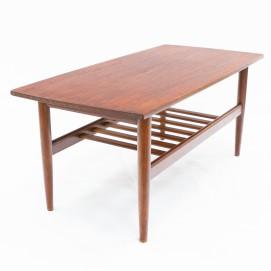 Table basse vintage en teck Samcom