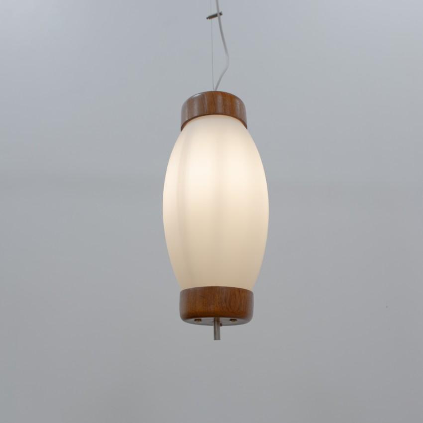 Suspension en verre et bois - Reggiani