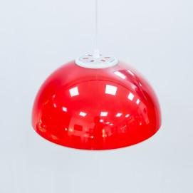 Suspension Stilux en Plexiglas rouge