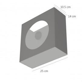 Applique pour ampoule à calotte argentée éditée par Pierre Disderot