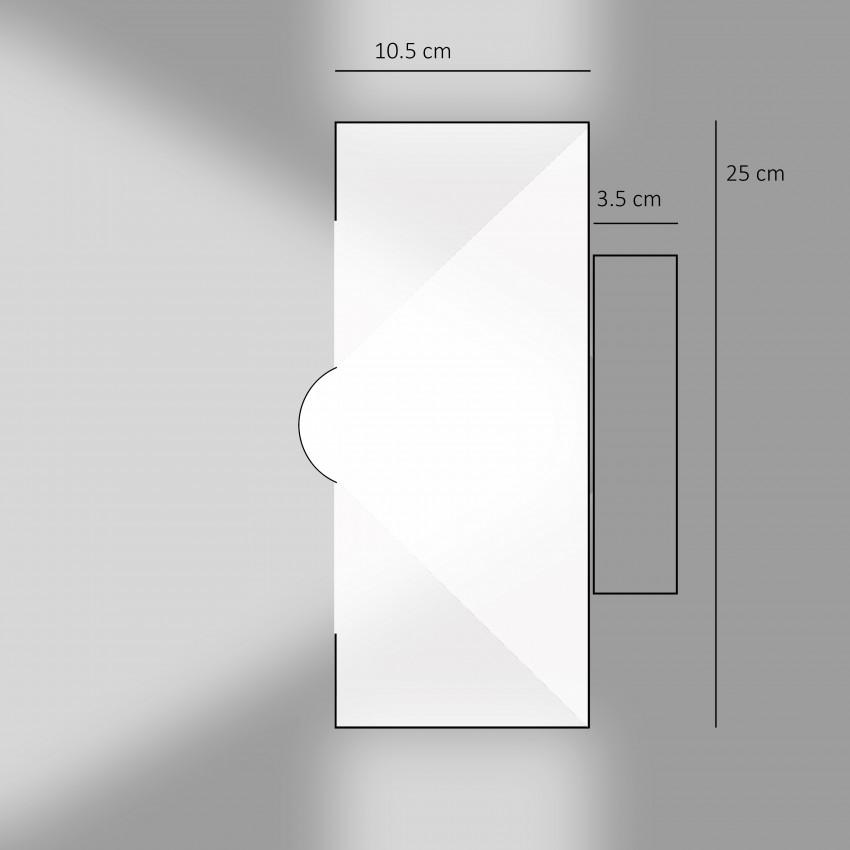 Applique d'éclairage indirect pour ampoule à calotte argentée