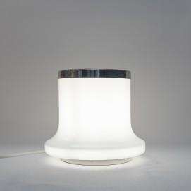 Lampe sphérique et cylindre de verre Reggiani
