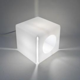 Lampe cubique en Plexiglas des années 1960