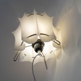 Lampe en lamelles de résine vintage