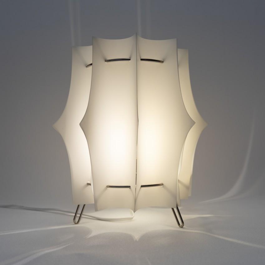 Lampe en lamelles de résine des années 1960