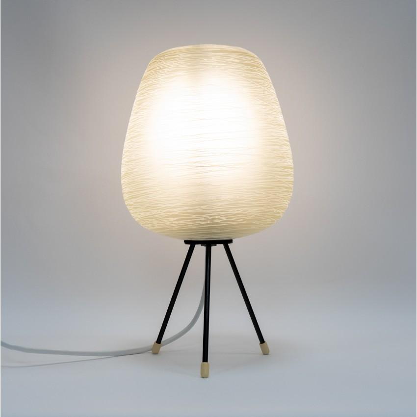 Lampe tripode verre et métal des années 1950 - Philips