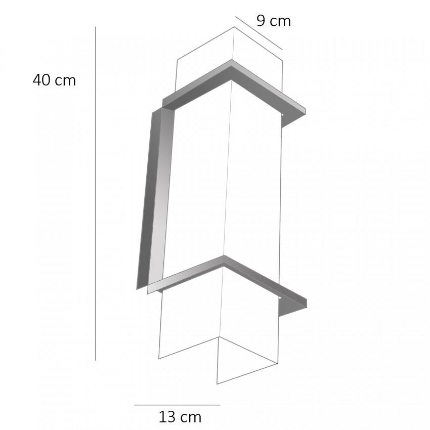 Appliques rectangles en Plexiglas des années 1960 - Dimensions