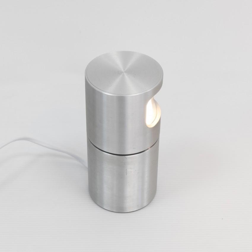 Lampe cylindrique pivotante en aluminium