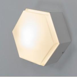 Applique hexagonale Raak en métal et verre satiné