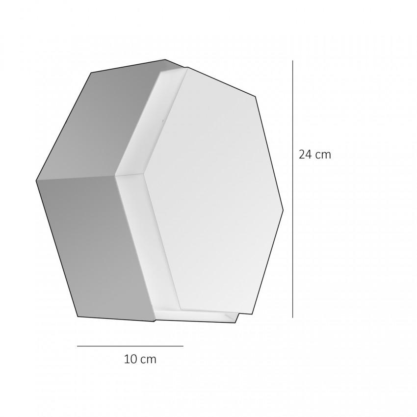Plafonnier hexagonal Raak 1091 en métal et verre opale