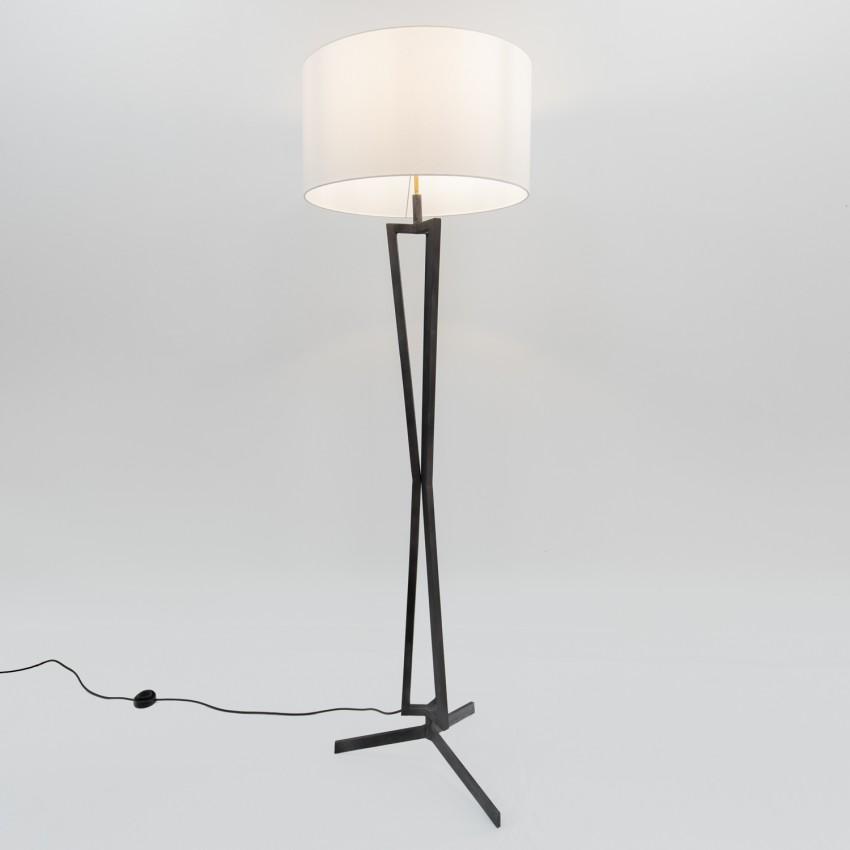 Lampadaire tripode en métal des années 1970
