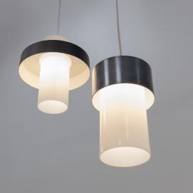Duo de cylindres en verre et métal