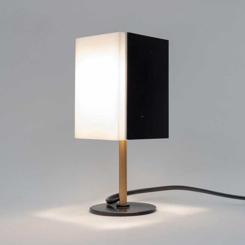 Lampe parallélépipédique en tôle et Plexiglas