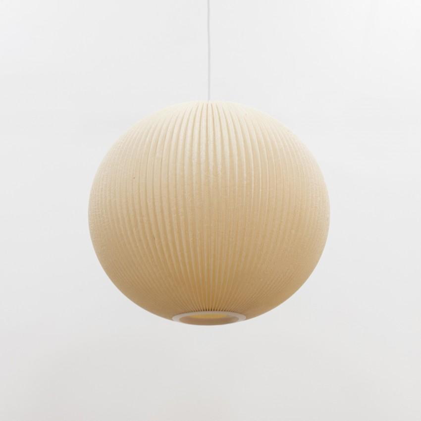 Lampion en tissu plissé