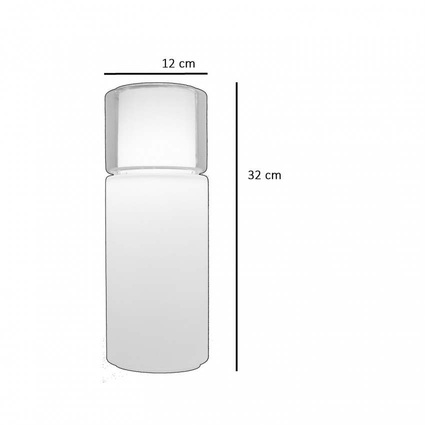 Suspension cylindrique double verre