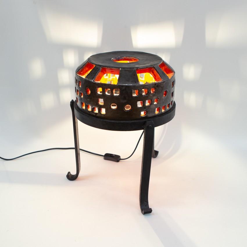 Lampe en céramique tripode
