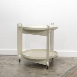Table roulante de Luigi Massoni pour Guzzini - 1970