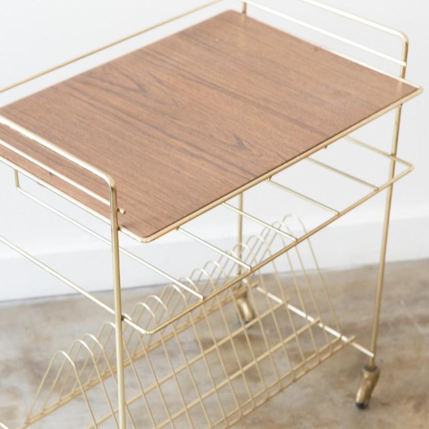 tablette range vinyles porte revues vintage. Black Bedroom Furniture Sets. Home Design Ideas