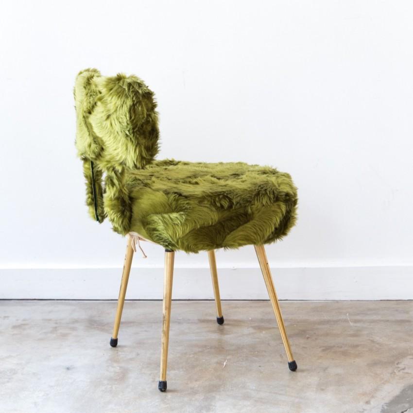 chaise moumoute vintage pelfran. Black Bedroom Furniture Sets. Home Design Ideas
