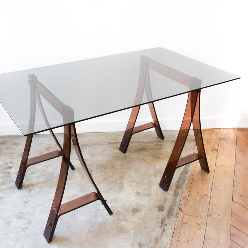 Bureau table altuglas et rodet gacita et tiberi for Table bureau