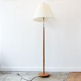 Lampadaire en bois des années 1950