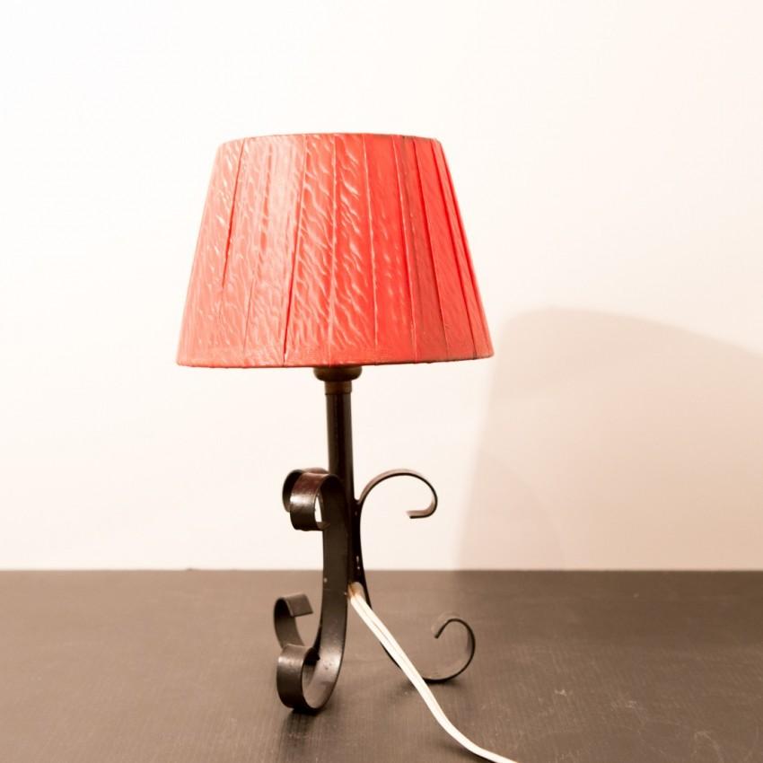 Lampe de chevet circa 1950 for Lampe de chevet fer forge