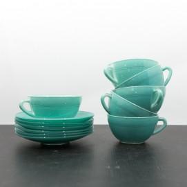 Tasses Duralex vertes des années 1950