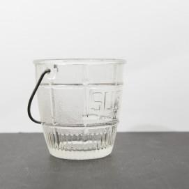 Seau à glace publicitaire Suze en verre
