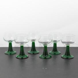 Verres à vin verts - Années 1960