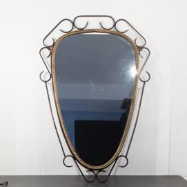 Miroir Art déco en fer forgé