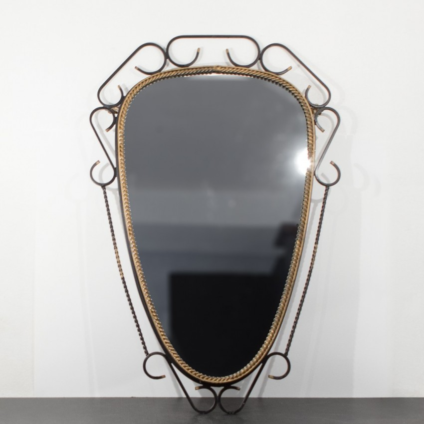 Miroir en fer forg art d co for Miroir fer noir