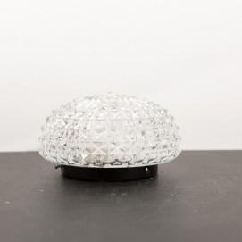 Applique vintage et ronde en verre