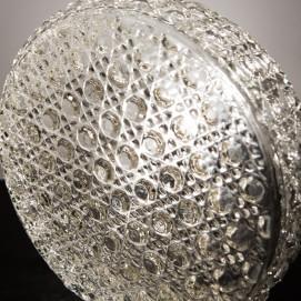 Applique ronde en verre - Plafonnier vintage